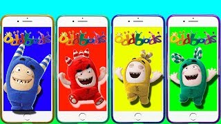 Cartoon Oddbods Baby Bubbles Wrong Heads of Mobile Phones Learn Colors with oddbods colors