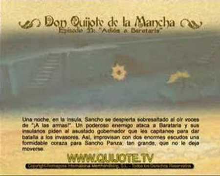 Videocuento Epis.#33 Resumen DON QUIJOTE DE LA MANCHA (1979) - QUIXOTE