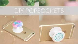DIY POPSOCKETS FROM SCRATCH + DECORATION IDEAS || DIY Phone Accessory Collab