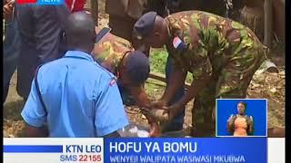 Hali ya wasiwasi yatanda maeneo ya Kaptembwa-Nakuru baada ya bomu kupatikana kwa makaazi ya wakulima