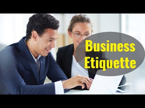 Business Etiquette and Professionalism - Video Training Course ...