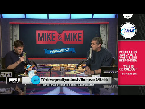 Mike Golic Outraged Over Lexi Thompson Penalty Call | Mike & Mike | ESPN Screenshot 2