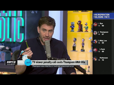 Mike Golic Outraged Over Lexi Thompson Penalty Call | Mike & Mike | ESPN Screenshot 4