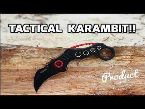 TAC FORCE Pocket Knife BLACK Blade KARAMBIT Tactical Knife Review