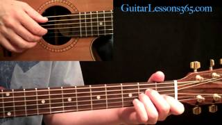 Kansas - Dust In The Wind Guitar Lesson Pt.1 - Intro & Verse