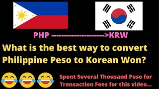 Korea Travel Tip: Best Way to Convert Money from PHP to KRW