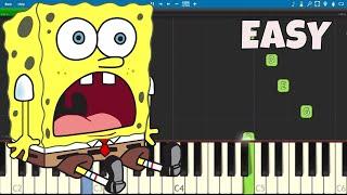 spongebob theme song piano letters - TH-Clip