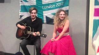McFly's Tom Fletcher and sister Carrie perform the official olympic mascot song On A Rainbow!