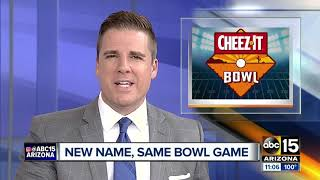 Cactus Bowl renamed Cheez-It Bowl, will be played at Chase Field after Christmas