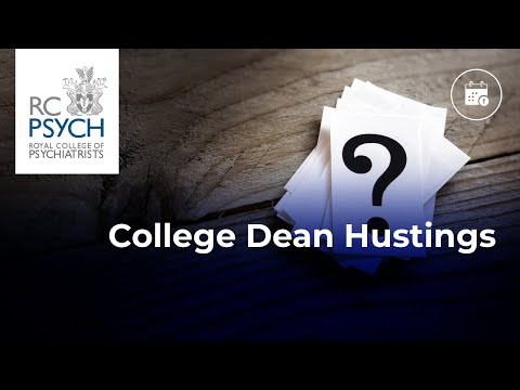 RCPsych Dean Hustings - 10 December 2020