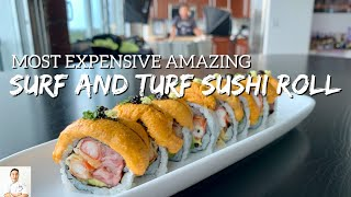 I Made The Most Expensive Amazing Surf Turf Sushi Roll by Diaries of a Master Sushi Chef