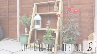 How To Make A Tiered Plant Pot Stand // Garden Projects