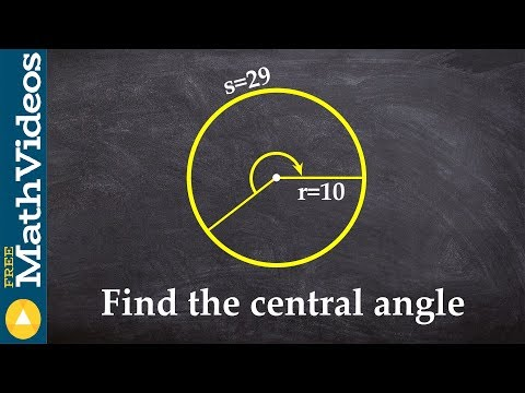 Find the central angle given the arc length and radius