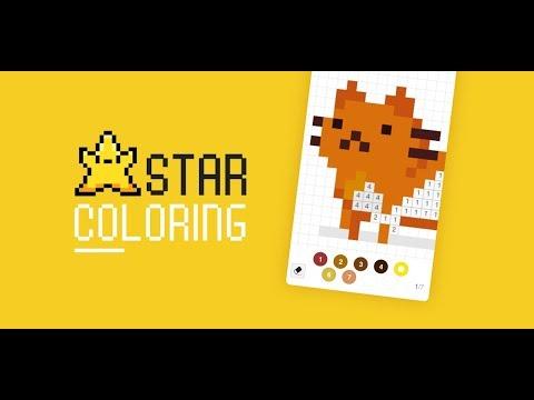 Vídeo do Star Coloring - Livros de Colorir, Pixel Art