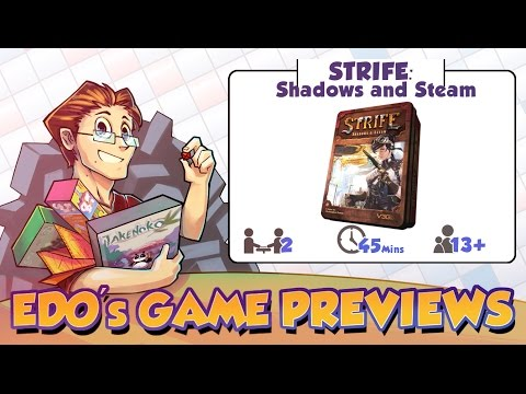 Edo's Strife: Shadows and Steam Card Game Review (KS Preview)
