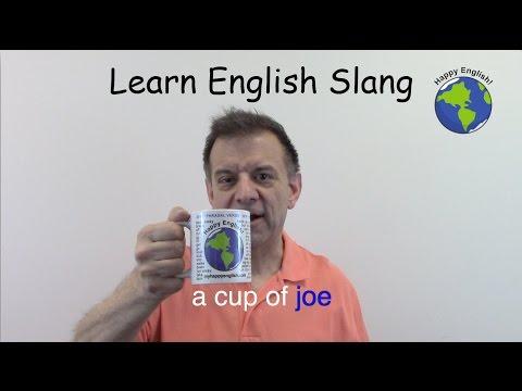 A Cup of Joe - English Slang for Coffee