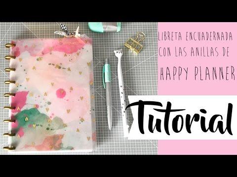 Tutorial: libreta encuadernada con anillas del Happy Planner
