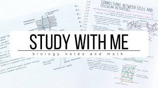 Study With Me ☀️Biology notes and Math | studytee