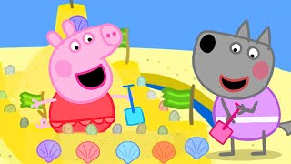 Peppa Pig Official Channel | Peppa's Biggest Sand Castle