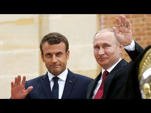 Встреча Владимира Путина с Эммануэлем Макроном. Полное видео