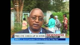 Kikuyu Hospital offers free eye check up for Nyeri residents