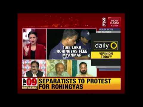 Separatists Fight For Rohingya Muslims , What About Kashmiri Pandits ?