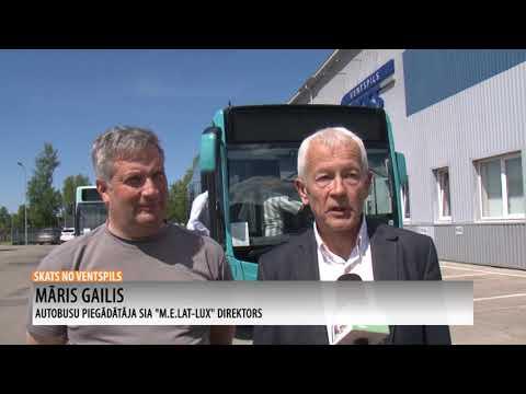Ventspilī sāk kursēt Latvijā pirmais hibrīdautobuss