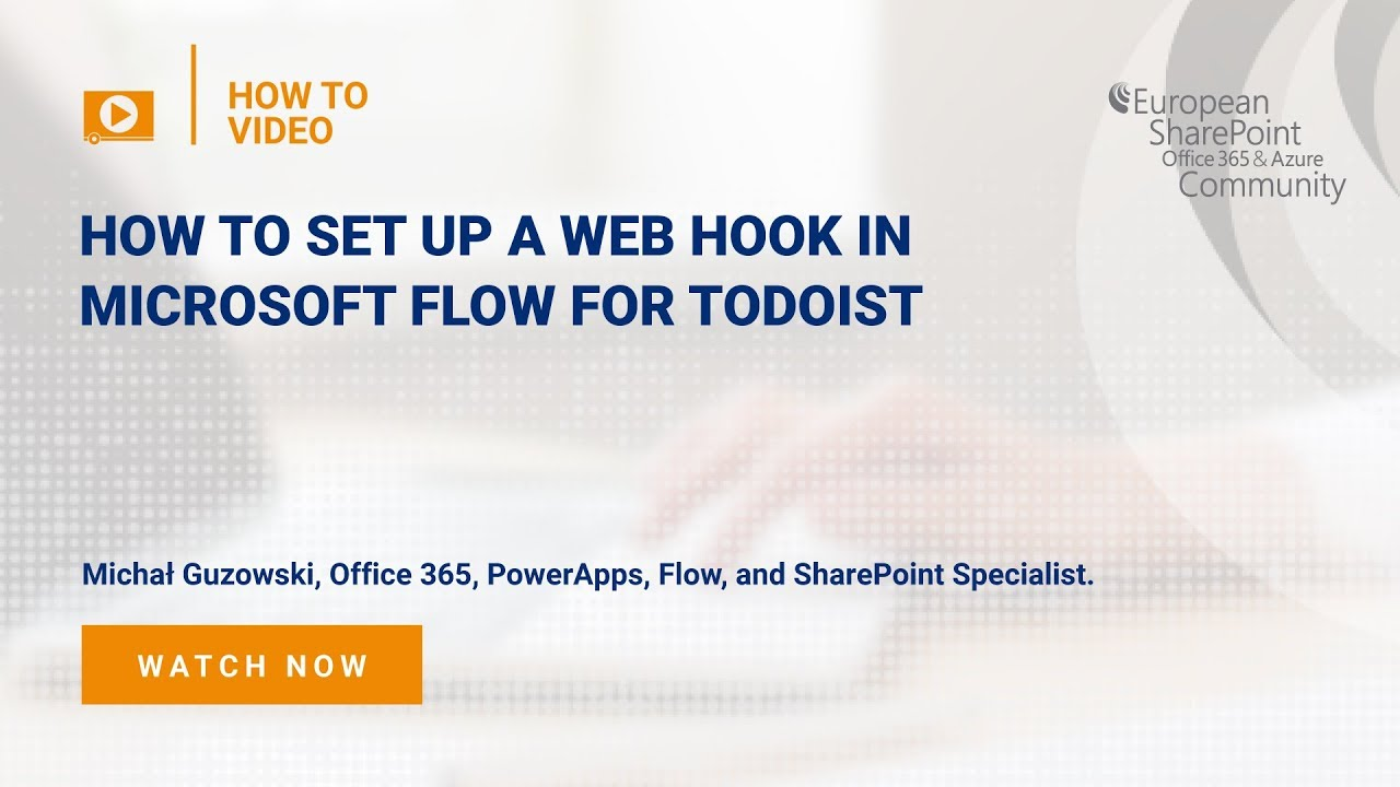 How To set up a Web Hook in Microsoft Flow for todoist