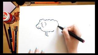 Como dibujar una Oveja - dibujos para niños