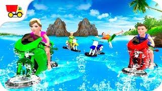 Bike Racing Games - Kids Water Bike Racing 3D - Gameplay Android free games