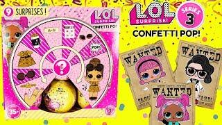 LOL SURPRISE Dolls Series 3 FULL CASE The Hunt For Madame Queen, Black Tie, VRQT