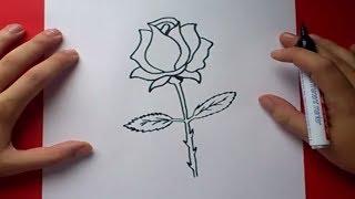 Como Dibujar Una Rosa Paso A Paso 3 | How To Draw A Rose 3