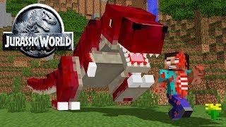 Monster School: JURASSIC WORLD CHALLENGE - Minecraft Animation