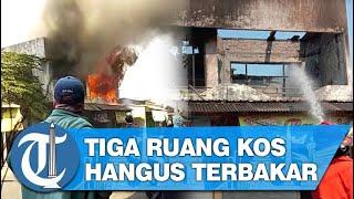 Korsleting Listrik, Rumah Kos Dua Lantai di Sidoarjo Ludes Terbakar