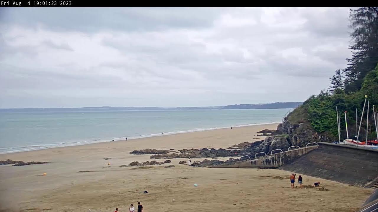Webcam en live d'Etables-sur-Mer depuis la plage des Godelins