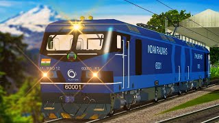 WAG 12 Trial Run 12000 HP Electric Locomotive in MSTS Open Rails