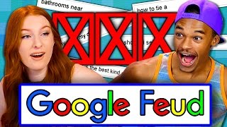 GOOGLE FEUD (Teens React: Gaming)