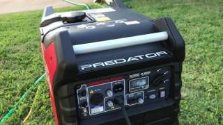 Predator 3000 3500 Watt Inverter Generator Test - Defective Replacement