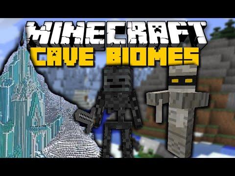 Minecraft: CAVE BIOMES MOD (Fronzen Kingdom, Mummies, Redstones Cave & More) Mod Showcase