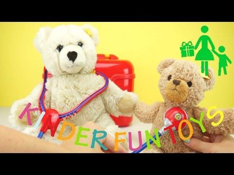 TOLLES KINDER YOU TUBE VIDEO   THEO KLEIN ARZTKOFFER TEDDY BÄR   KINDER FUN TOYS