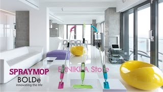 SPRAY MOP STAINLESS BOLDe X-TRA | 2 KAIN REFILL + SIKAT | FREE BUBBLE