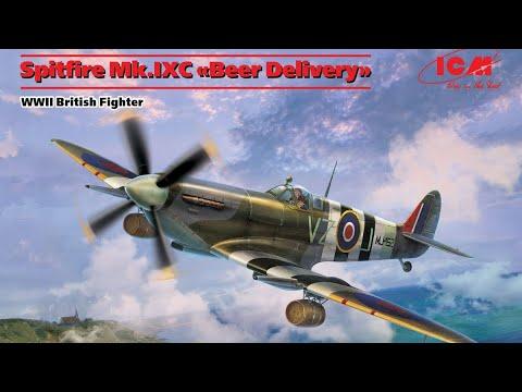 ~48060 ICM 1//48 scale Supermarine Spitfire Mk.IXC /'Beer Delivery/'