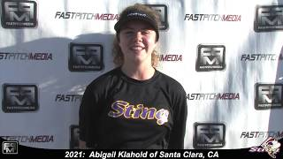 2021 Abigail Klahold Athletic Catcher and Outfield, Lefty Hitter Softball Skills Video - SJ Sting