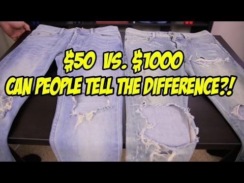 $50 JEANS VS.  $1000 JEANS