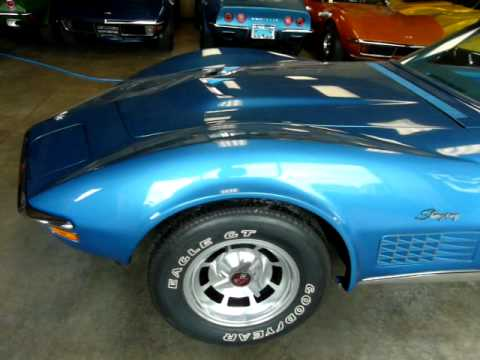 1970 Mulsanne Blue LT1 Corvette Stingray Convertible Video