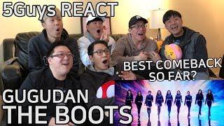 [FUNNY FANBOYS] GUGUDAN(구구단) - The Boots (5Guys MV REACT)