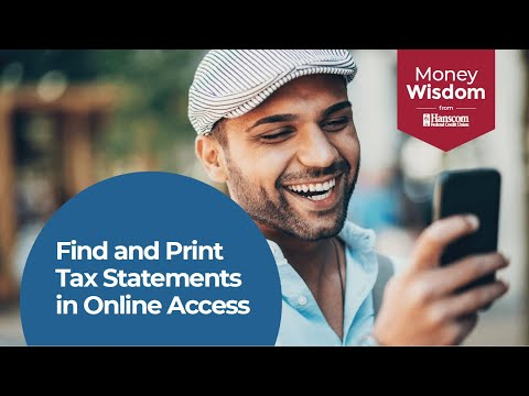 Find and Print Tax Statements in Online Access