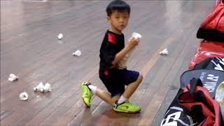 Badminton Beginner   4 years old kids children learn training shadow footwork stroke basic Malaysia