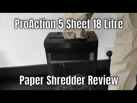 ProAction 5 Sheet 18 Litre Paper Shredder.