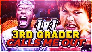 3RD GRADE SQUEAKER KID CALLS ME OUT! P2 vs 8YR OLD! YOU WONT BELIEVE WHAT HAPPEN... NBA 2K18